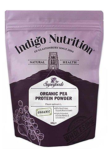 Indigo Herbs BIO Erbsenprotein Pulver 500g (Organic Pea Protein Powder)