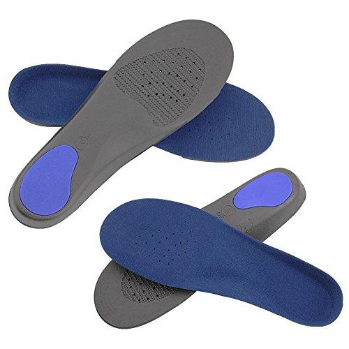 JTDEAL 2 Paires Semelle Orthopédique de Sport Respirant Confortable en EVA Support Semelle pour Pieds Semelles Plat Pieds Arch pour Hommes et Femmes(Bleu)
