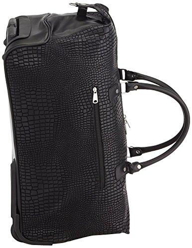 Hauptstadtkoffer® Modell Tiergarten Reisetasche Trolley Lederoptik,Farbe:Schwarz Tasche 56 cm 55 Liter -