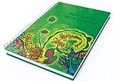 Schreibwandel Spiralblock Hardcover grün, A4, 150 Blatt = 300 Seiten, beidseitig liniert, 80 g/qm, Notizblock, Tagebuch, Schreibblock mit Affirmation: Mein Leben ist farbenfroh