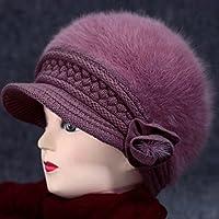 Wenxin0815 Der Alte Mann Hat Strickmütze Dicken Warmen Herbst Winter Cap Ohr Verschließen, F, Light Pink