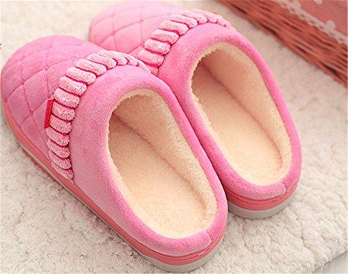 YMFIE Onorevoli colleghi in autunno e in inverno non slip calda felpa cotone home pantofole scarpe D