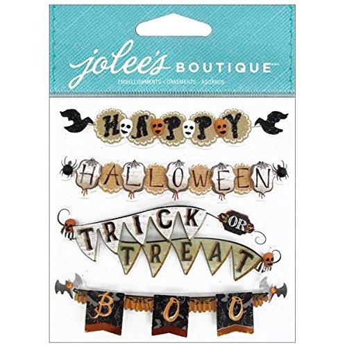 Unbekannt Jolee 's Boutique Vintage Halloween Banner Wiederholen