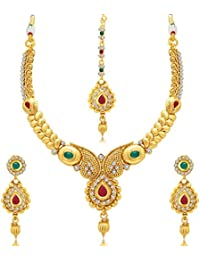 Sukkhi Jewellery Sets for Women (Golden) (3270NGLDPJ1400)