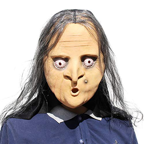 Beängstigend Hexe Maske - DLH Halloween-Maske, Latex-Maske, Parodie Hexe Beängstigend