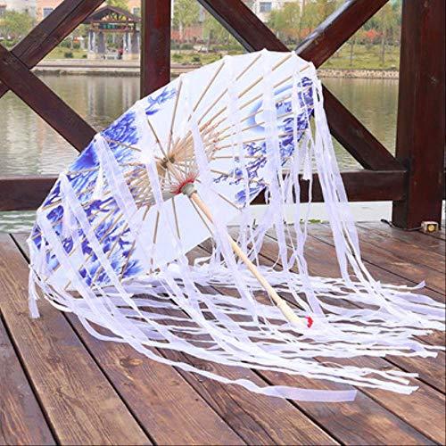 Kostüm Aus Papier Taschen - Non-branded Seidentuch Spitze Regenschirm Frauen Kostüm