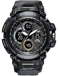 Là Vestmon SMAEL 1708B Analógico Digital Reloj Militar Reloj Deportivo para Hombre, Doble Esfera Business