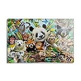 Animal Buddies Selfie Panda Eisbär Faultier Lemur Toucan Rechteck Acryl Kühlschrank Kühlschrank Magnet