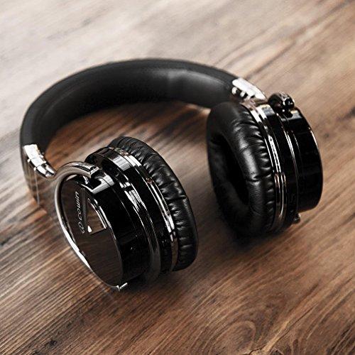 COWCOWIN E7 Kabellose Bluetooth Kopfhörer Over Ear Wireless Headphones mit Mikrofon, schwarz - 8
