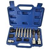 Robinets M3-M6 Comprenant 1 x cl/é /à Taraud 4 Robinets M/étriques 4 x Forets 2.5-5.2mm Subtop 9 Pi/èces Kit doutils de taraudage