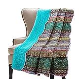 Alicemall Tagesdecke Baumwolle Bettüberwurf 180x220cm Sofa Couch Überwurf Decke Sommerdecke Gesteppt Steppdecke