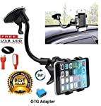 Ceuta Retails™ Soft Tube Mobile Holder Car Mobile Stand Mobile Holder for Cars Dashboard Multi-Angle Adjustment with 360...