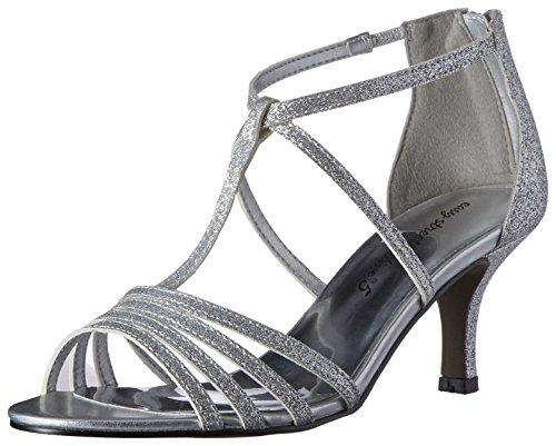 Easy Street Gaze Damen Schmal Stoff Sandale Silver Glitter