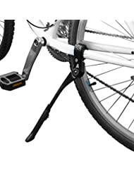 BV Bicicletas Pata de cabra / Pie de soporte bicicletas, Aleación, Negro, Altura Ajustable, Montaje de Tubo, Tamaños de ruedas 24 - 28 pulgadas – BV-KA70-BK