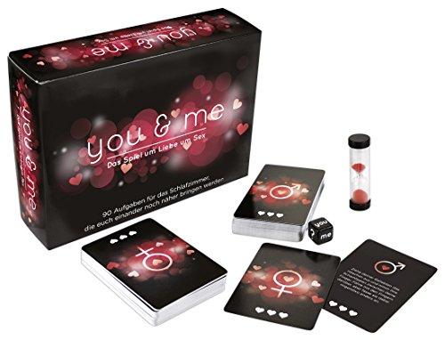 Creative Conceptions Spiel für Paare mit erotischen Aufgaben, enthält 1 Würfel, 1 Sanduhr, 90 Karten, Spezial Karten und 2 Joker auf Deutsch