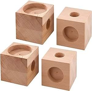 m bel erh hungsb cke im 4er set 9 cm k che. Black Bedroom Furniture Sets. Home Design Ideas