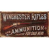 Winchester Logo Blechschild Flach Neu aus USA 31x40cm mit Bset