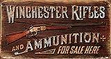 Winchester Rifles and Ammo Blechschild Flach Neu 21x40cm S2766