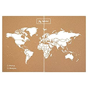 Miss Wood Map XXL – Mapa del Mundo de Corcho