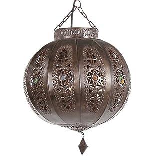 albena marokko galerie 13-166 Yali moroccan ceiling lamp ø 26cm metal brown
