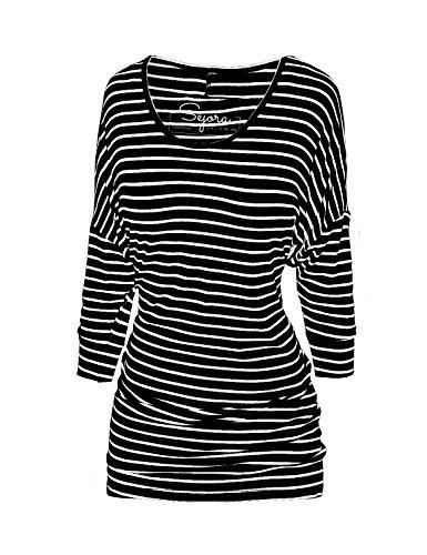 Sejora -  Maglia a manica lunga  - Donna Striped Black