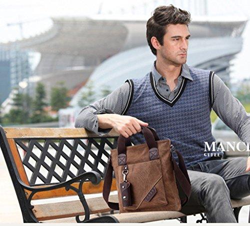 Super moderno Vintage Tela Borsa a tracolla Tempo libero viaggio borsa crossbody borsa a tracolla, Uomo, Armygreen Coffee