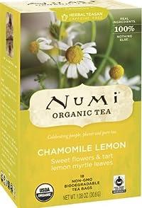 NUMI TEA HERB TEA,OG2,CHAMOMILE LM, 18 BAG