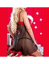 VENMO Navidad Moda Mujeres Muselina Traje de Especias Tentación Ropa Interior
