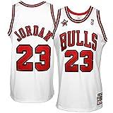NBA Mitchell & Ness Michael Jordan Chicago Bulls 1998 swingman - Camiseta de baloncesto, Weiß, small