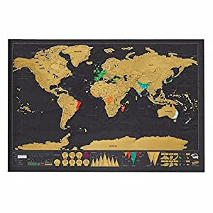 Buy 1pcs travel scratch off map personalized deluxe world map 1pcs travel scratch off map personalized deluxe world map scratch off foil layer gumiabroncs Image collections