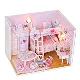 Momola Puppenhaus Holz DIY Miniatur Loft Dollhouse Kit,Puzzle handgemachtes Spielzeug...