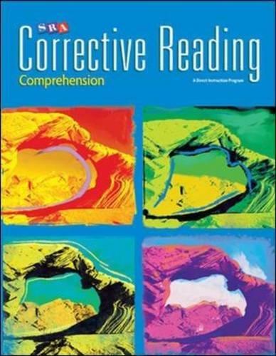 Corrective Reading Comprehension Level B1, Workbook (CORRECTIVE READING DECODING SERIES)