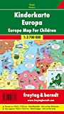 Freytag Berndt Karten, Kinderkarte Europa 1:3.700.000, metallstäbt in Rolle, ca. 95 x 112 cm