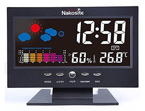 Nakosite HUM2433 Wetterstation innen mit digital Hygrometer Thermometer. Verwendet entweder USB-Kabel mitgeliefert, oder AAA-Batterien (nicht im Lieferumfang enthalten)