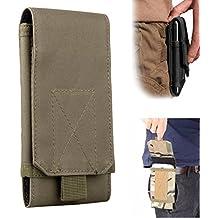 Efanr Universal al aire libre táctico cinturón Militar Molle cinturón de cintura bolsa tipo cartera Monedero Funda para iPhone 766S Plus Samsung Galaxy S7S6LG HTC y más funda para teléfonos móviles hasta 6pulgadas