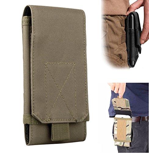 Riñonera para cinturón Efanr, táctica, militar, con bolsillos con cremallera y funda,...