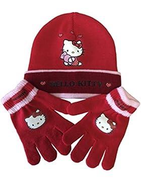 Per bambini bambino/bambina berretto invernale caldo personaggio cappello e guanti set