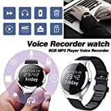 Eillybird Diktiergerät Voice-Recorder Watch Micro Mini Recording Pen HD Rauschunterdrückung Fernbedienungsarmband Uhrenrekorder-Armband Sprachsteuerung Evidence Collector