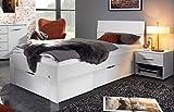 Bloominghome Bett mit 2 Schubkästen alpinweiß 90 x 200 cm Schubladenbett Funktionsbett