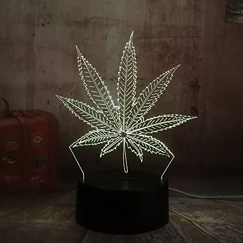 Neue Unkraut Cannabis Blatt 3D LED Licht Dekoration Schlaf Nachtlicht Tischlampe Tisch Urlaub Geschenk Spielzeug Flash Party Dekoration Lava