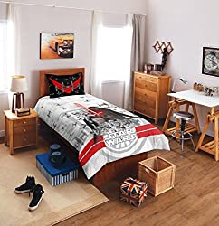 Spaces Starwars Lucasfilm 180 TC Cotton Single Bedsheet with 1 Pillow Cover - Character, Grey
