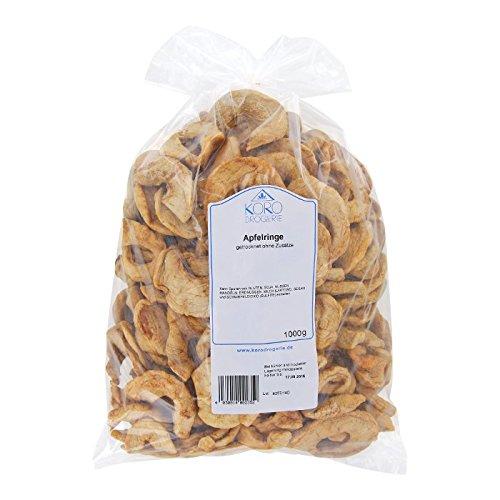 Preisvergleich Produktbild Getrocknete Apfelringe Die Perfekte Knabberei Für Zwischendurch 1 kg Packung KoRo