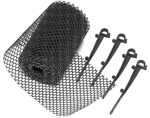 Brema 140430 Protège-gouttière 600x17 cm de maille en PE, avec 15 clips