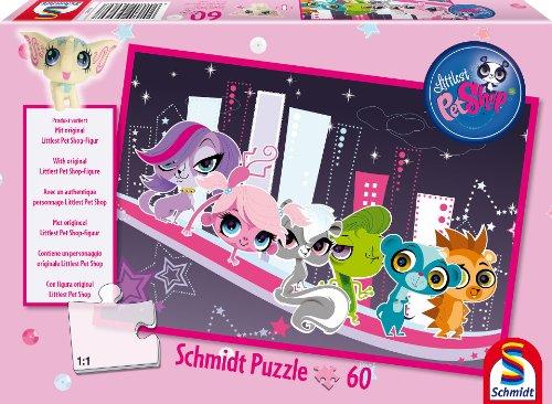 Schmidt Spiele 56060 - Hasbro, Littlest Pet Shop, Großstadtlichter, 60 Teile