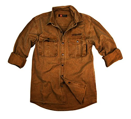 Chemise de Kakadu Traders McLeod de travail résistante en toile dense Gunn-worn, 6S02 Tabac
