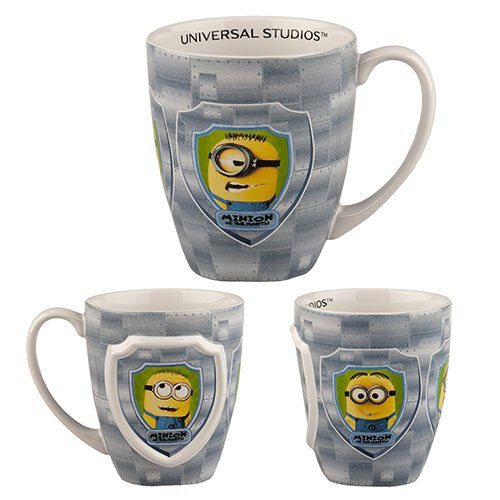 Universal Studios Florida Minion Mayhem Despicable Me Minion of the Month Large 20 Oz. Mug Coffee Cup Stoneware  available at amazon for Rs.5872