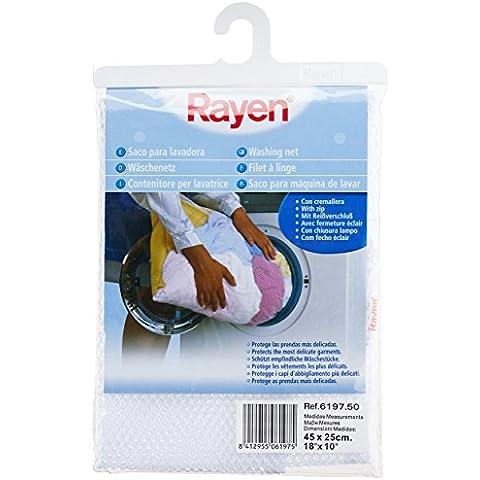 Rayen 6197.50 - Saco para lavadora, 45 x 25 cm, color blanco