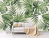 Carta Da Parati 3D Fotomurali Contemporaneo Di Semplice Foresta Pluviale Pianta Foglia Di Banano Sfondo Pastorale Muro Moderno Non Tessuto Murale Seta Wallpaper