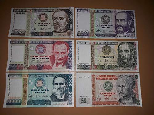 Zubehör für Sammler Bank of Peru 50 Intis Banknoten Crisp UNC / 1987 / Original Papiergeld (Peru Münzen)