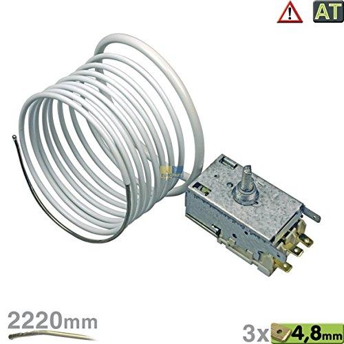Ranco K57-L5818 Thermostat Temperaturregler 3x4,8mm AMP Kapillarrohr 2220mm Kühlschrank passend wie Liebherr 6151150 6151032 Miele 4501620 4501621 4501622 4501623 Neckermann Quelle 00820860